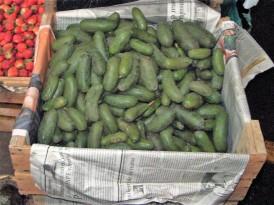 Koktél avokádó egy perui piacon