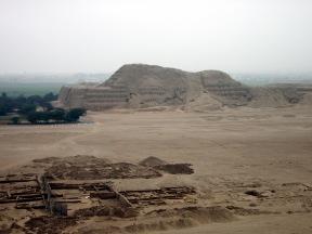 A romos állapotban lévő Huaca del Sol